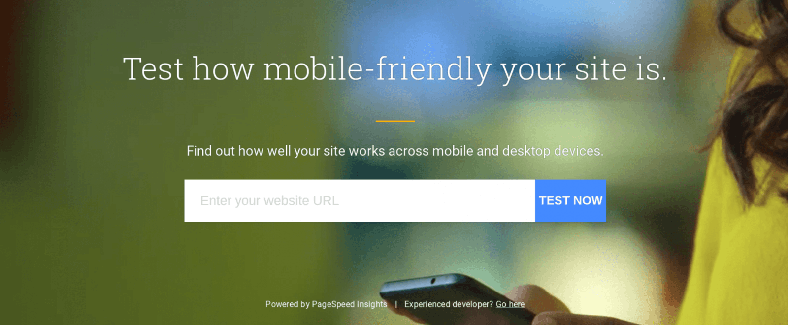 Test how mobile-friendly your website is