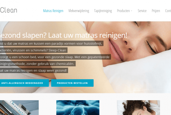 Sleep Clean Cleaning Services WordPress in Hoofddorp