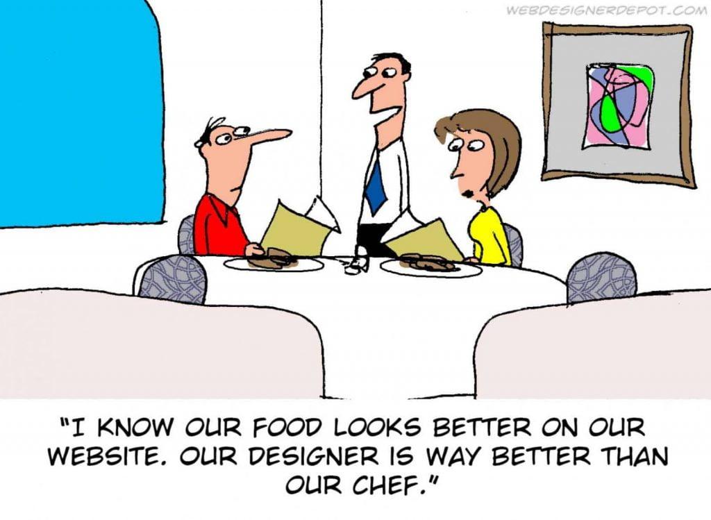Jerry King Good design, bad food