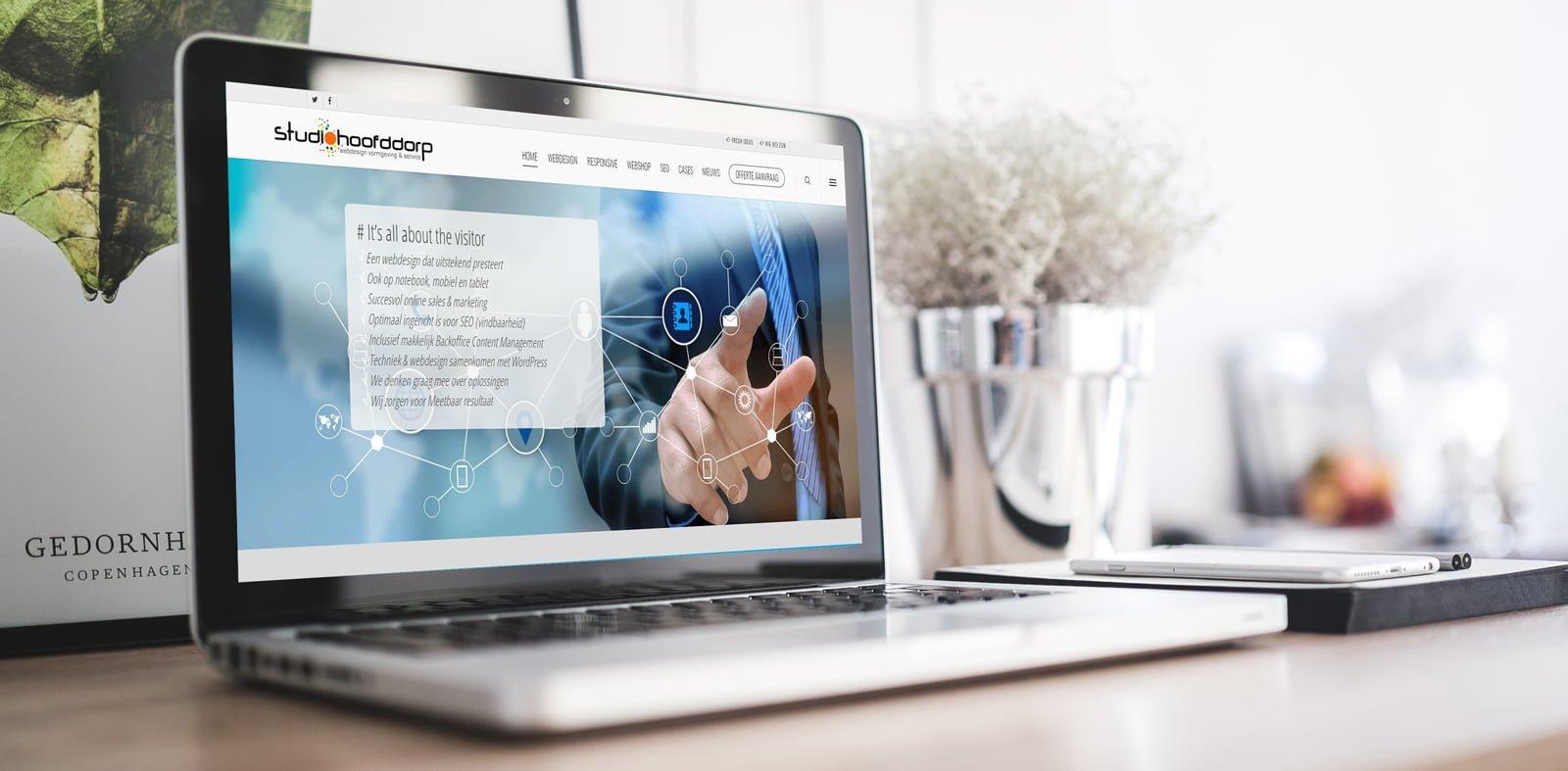 Schiphol online succesvol zijn, met een prachtig webdesign website Schiphol